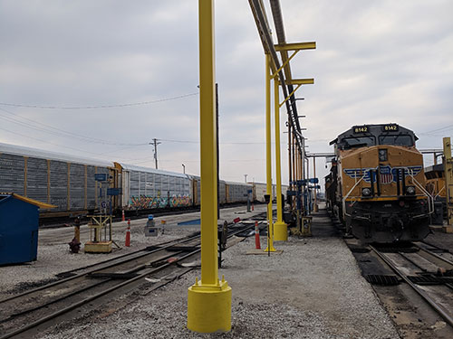 Fuel Support Systems for railroads in Chicago ILLINOIS done by Coleman Industrial Construction based in Kansas City Missouri