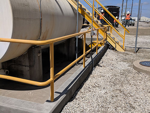 Fuel Support Systems for railroads in Council Bluffs IOWA done by Coleman Industrial Construction based in Kansas City Missouri