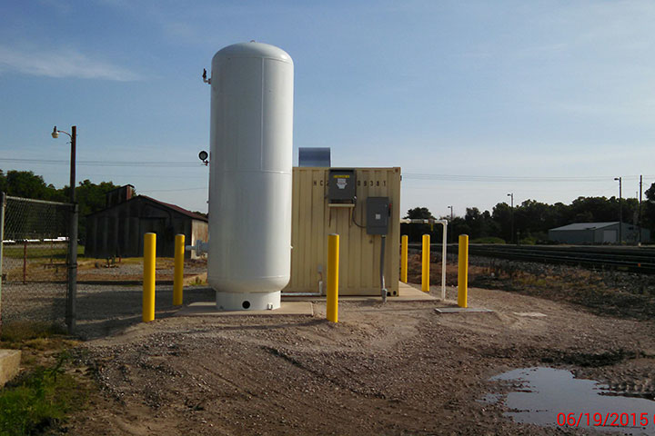 Union Pacific Railroad Yard Air Compressor by Coleman Industrial Construction in Kansas City Missouri
