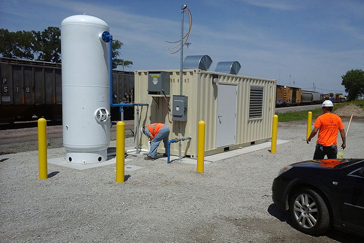 Union Pacific Railroad Yard Air System Upgrades by Coleman Industrial Construction in Kansas City Missouri