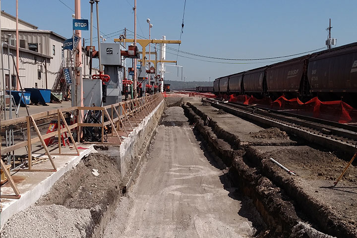 BNSF Inspection Pit North Kansas City by Coleman Industrial Construction in Kansas City Missouri