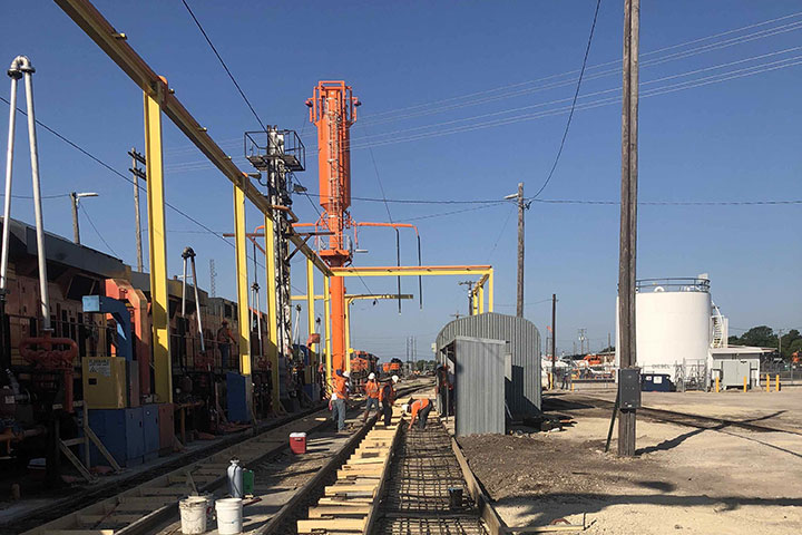 BSNF Railway Fueling Platform and DTL Upgrades by Coleman Industrial Construction in Kansas City Missouri