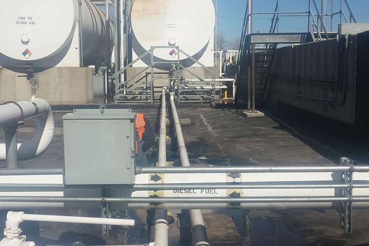 Equipment Fueling Implementations Cherokee Yard by Coleman Industrial Construction in Kansas City Missouri