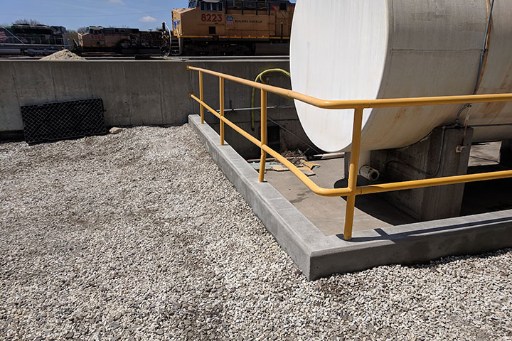 UPRR Containment Wall Addition by Coleman Industrial Construction in Kansas City Missouri